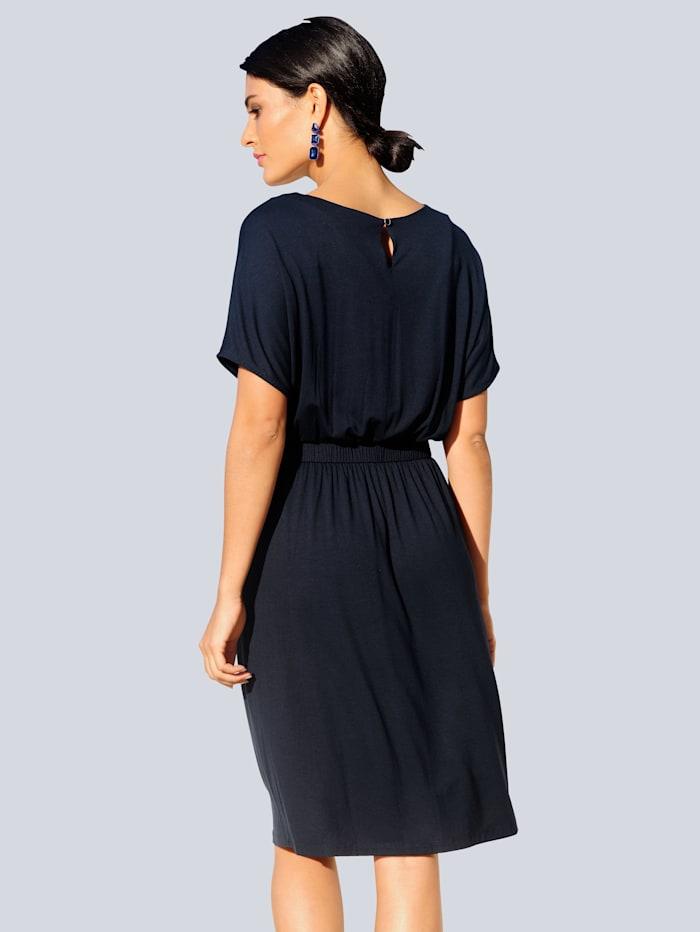 Jersey jurk van zeer elastisch materiaal