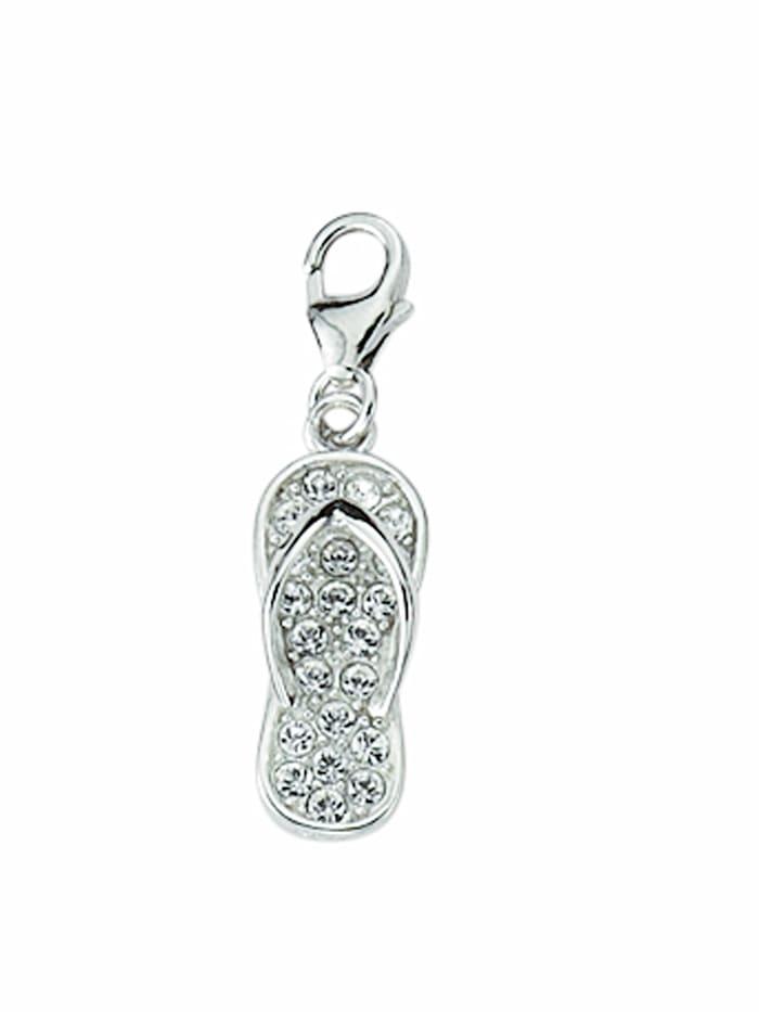 1001 Diamonds 1001 Diamonds Damen Silberschmuck 925 Silber Charms Anhänger Schuh mit Zirkonia, silber