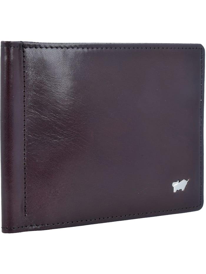 Braun Büffel Basic Dollarclipbörse I Leder 12 cm, bordeaux