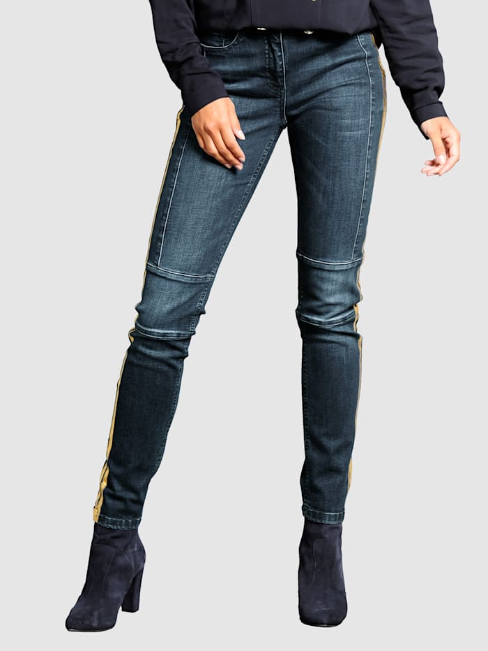 Jeans met modieus washed effect