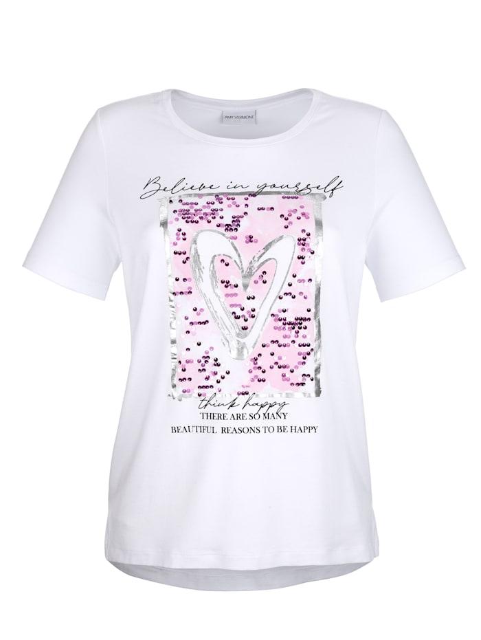 Shirt met paillettenversiering