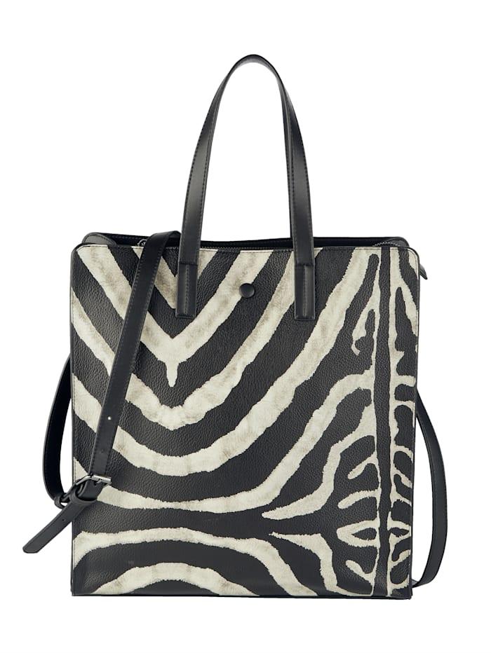 CINQUE Shopper met zebraprint, zwart/crème