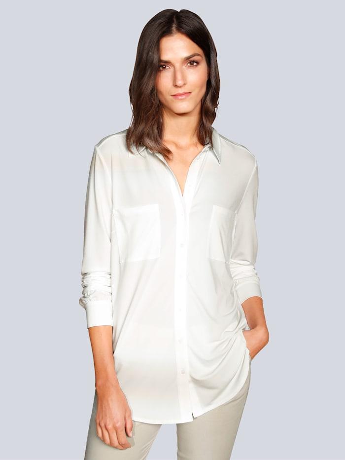 OUI Bluse in weich fließender Ware, Creme-Weiß