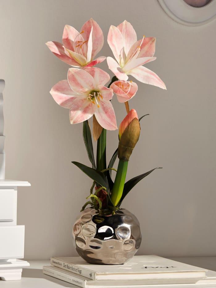 Globen Lighting Amaryllis en pot argenté, Rose