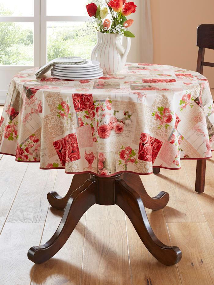 Peyer-Syntex Voskovaná stolová séria Karen, červená pestrá