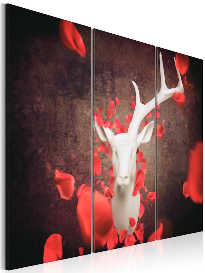 artgeist Wandbild Unsterblichkeit, Weiß,Rot,Braun