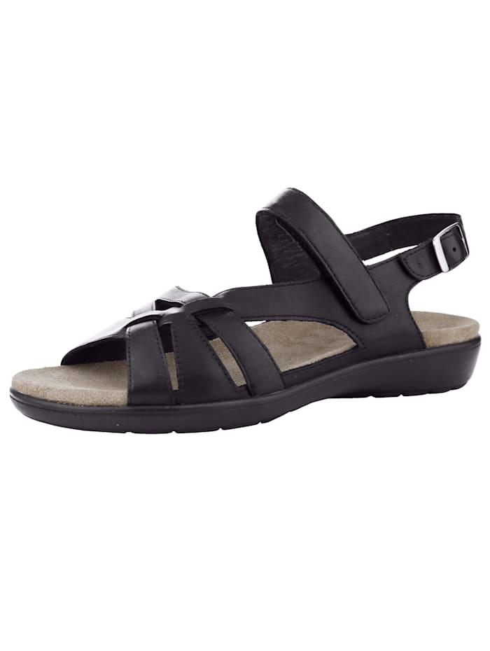 Naturläufer Sandalette, Schwarz