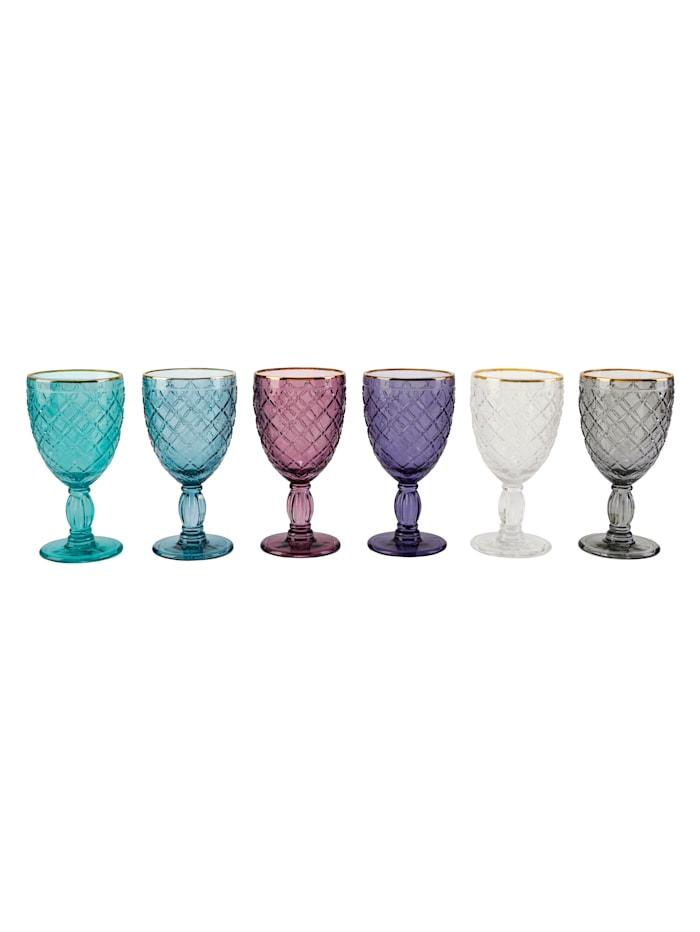IMPRESSIONEN living Weinglas-Set, 6 tlg., Multicolor