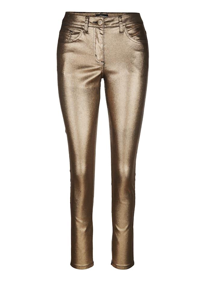 AMY VERMONT Hose in Metallic-Optik, Goldfarben