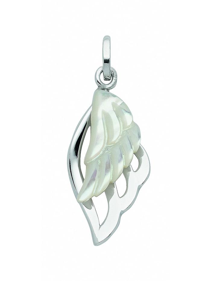 1001 Diamonds Damen Silberschmuck 925 Silber Anhänger mit Perlmutt, weiß