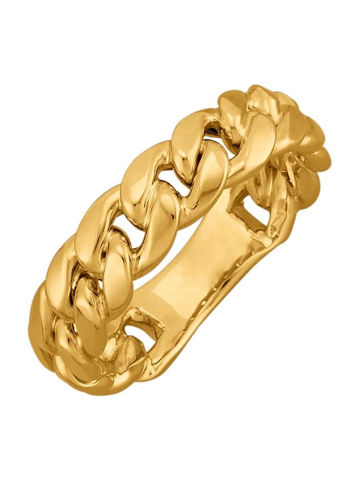Diemer Gold Damenring in Panzerkettenoptik, Gelbgoldfarben