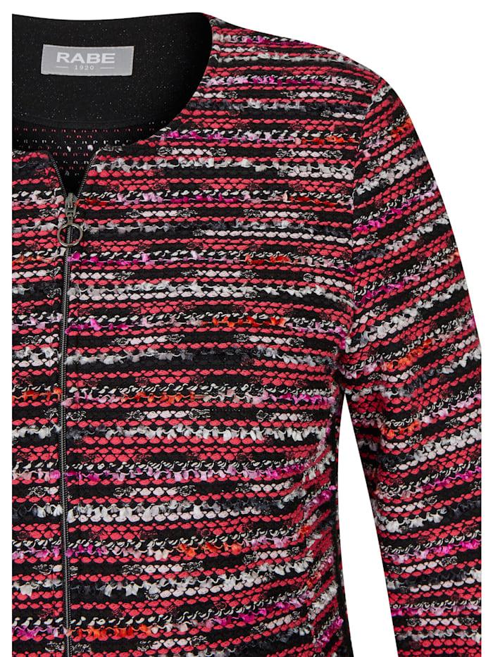 Jacke mit buntem Muster und Reißverschluss
