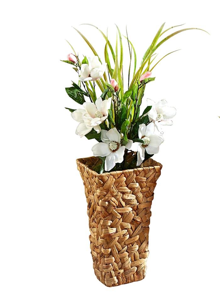 Tewa Konstgjord växt, magnolia, Vit