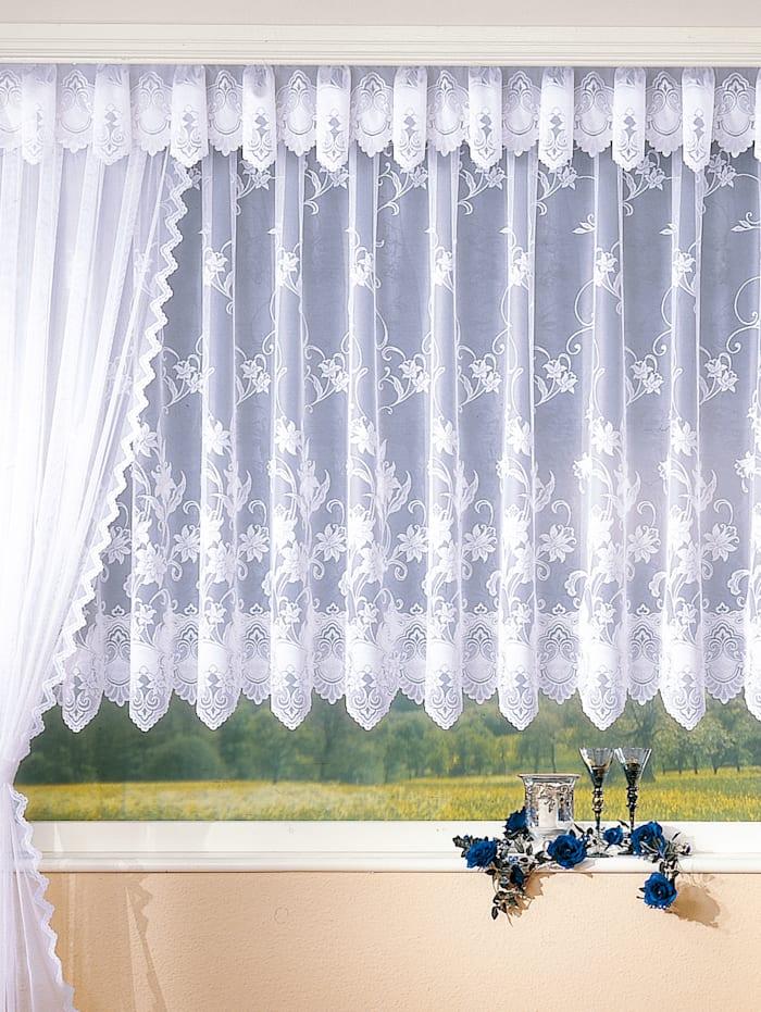 Záclona s univerzálnou pásovkou na zavesenie