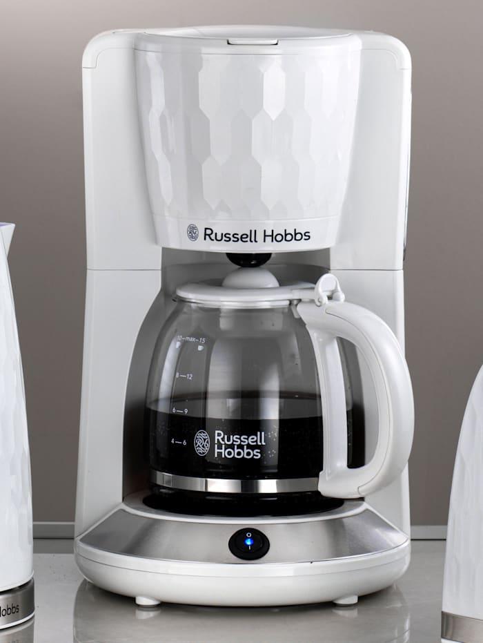 Russell Hobbs Kaffebryggare med glaskanna – Honeycomb, Vit