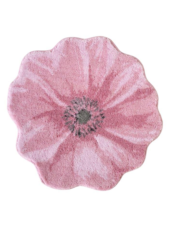 Grund Badematte 'Blüte', Rosé