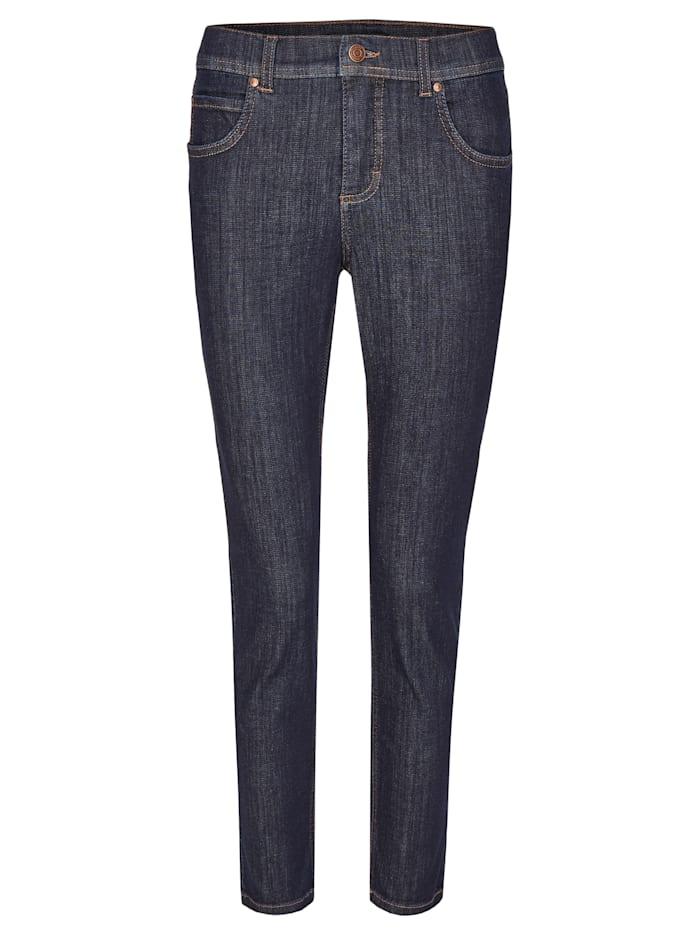 Angels Ankle-Jeans 'Ornella' mit modischem Crinkle-Effekt, dark indigo