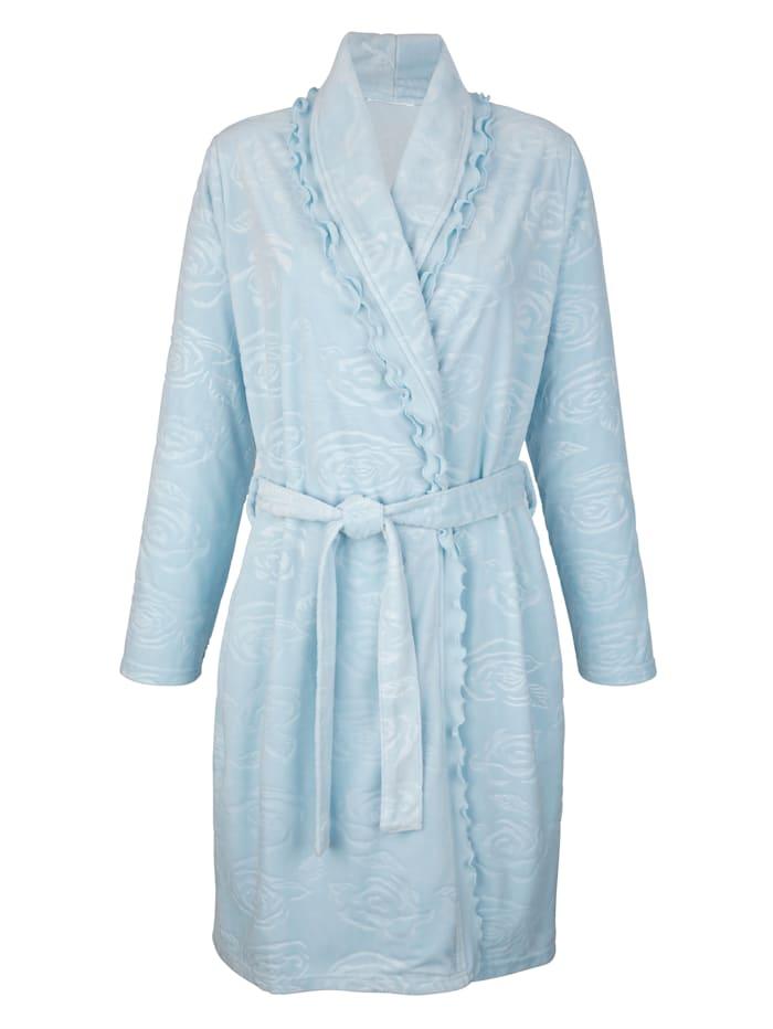 Simone Robe de chambre Matière douillette en polaire, Bleu ciel
