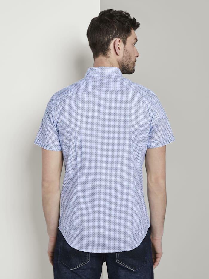 Gemustertes Kurzarm-Hemd mit Brusttasche