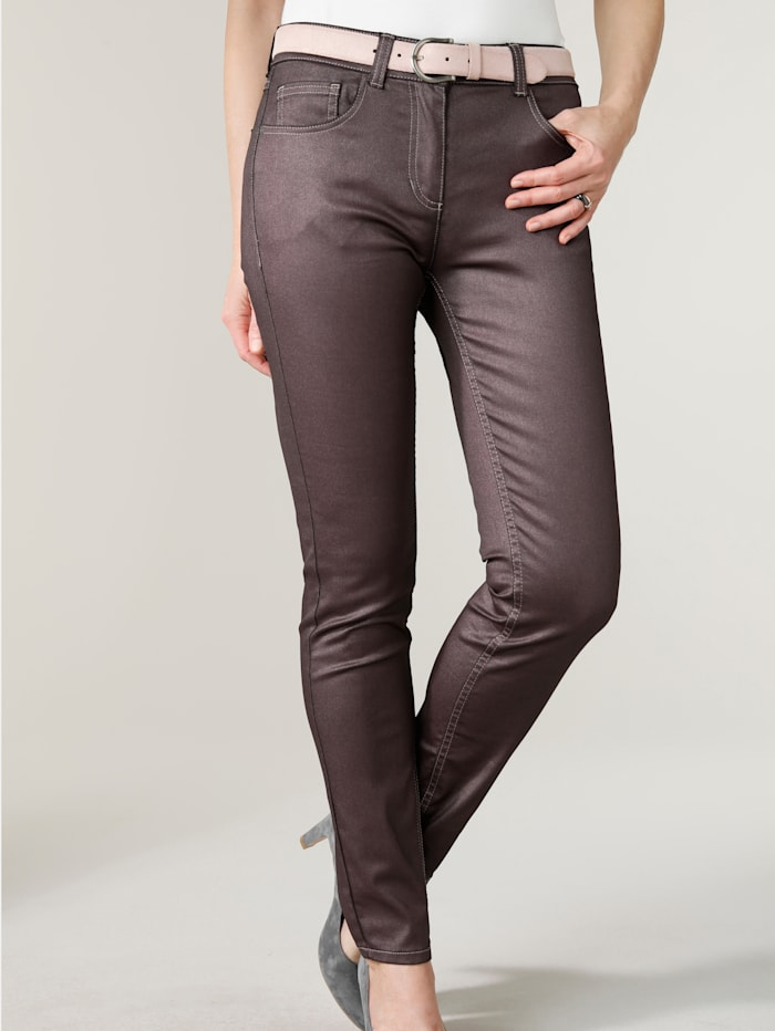 MONA Pantalon en fil brillant, Baies