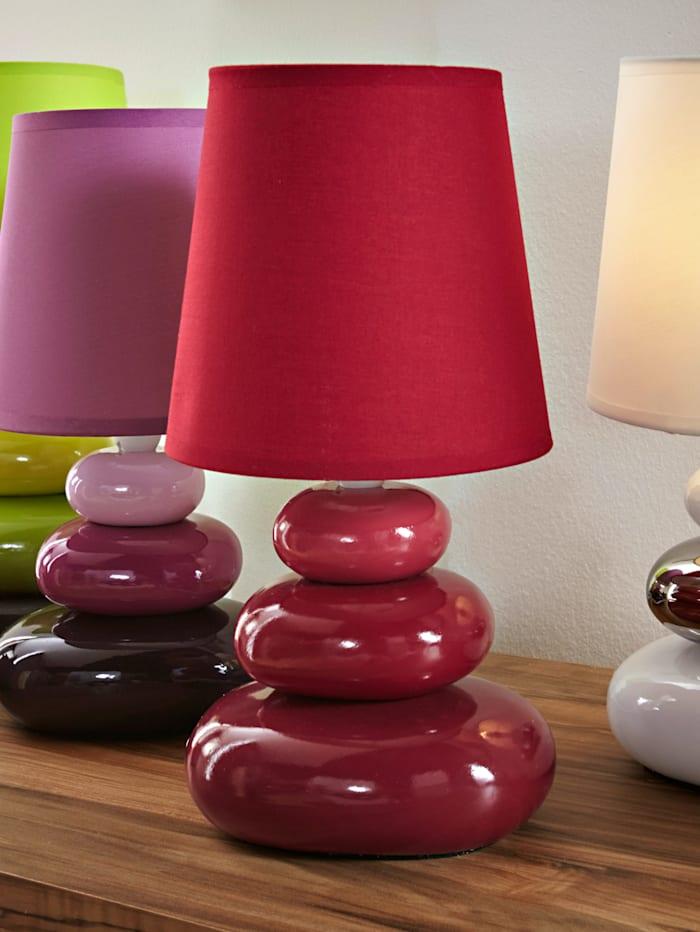 Näve Bordslampa med rundade former, röd