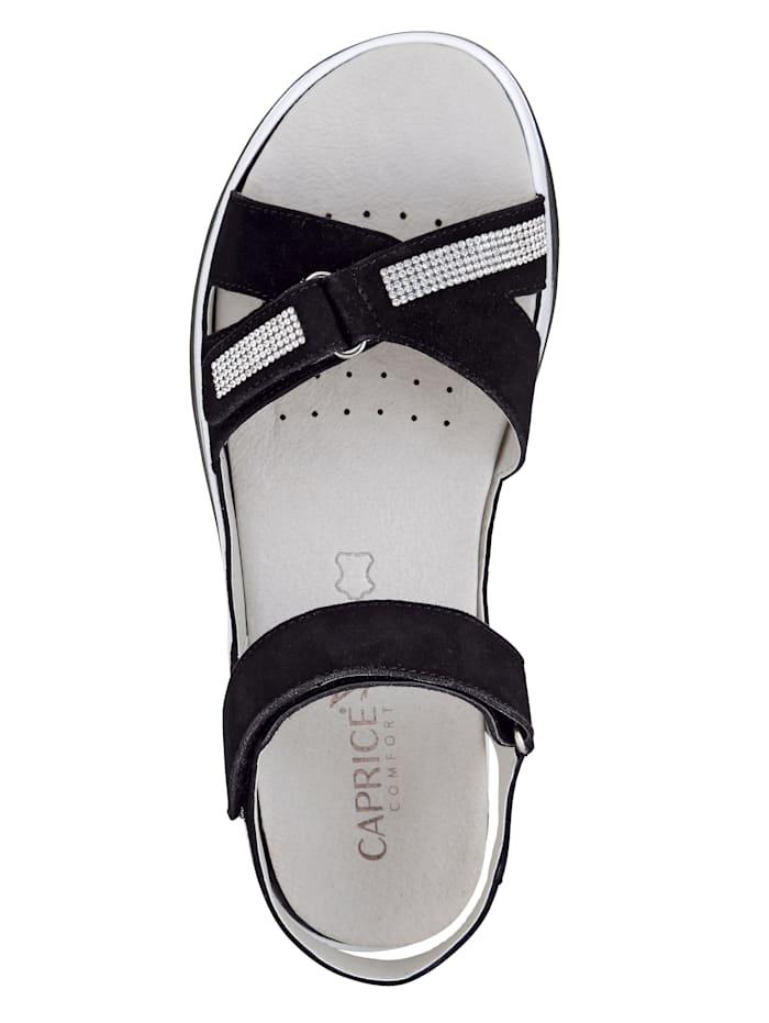 Sandalette mit Glitzerbändchen