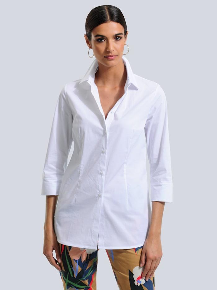 Alba Moda Bluse in Longform, Weiß