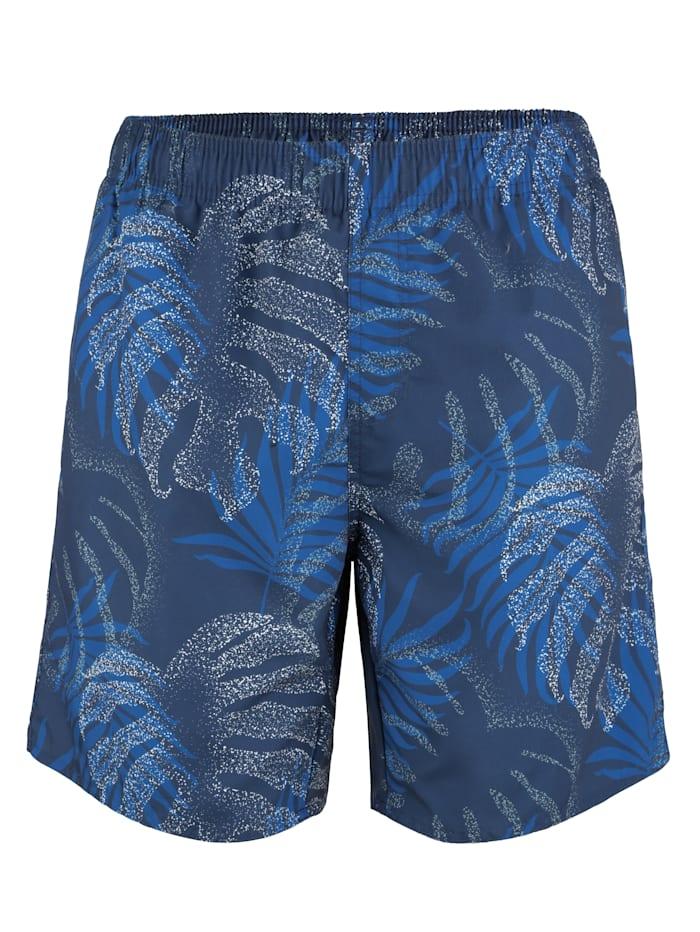 Maritim Zwemshort met aantrekkelijk jungledessin, blauw