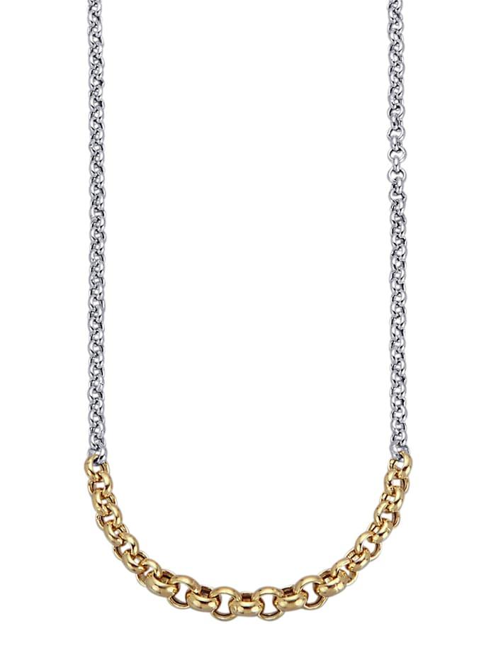 Collier in Silber 925, Gelbgoldfarben