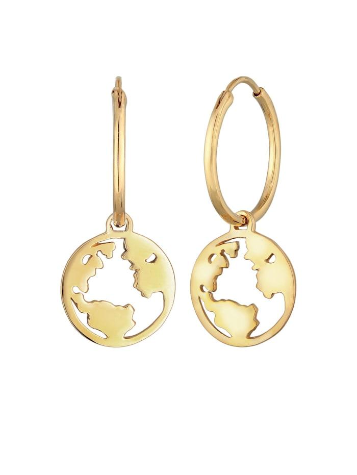 Ohrringe Hänger Weltkugel Globus Reisen Trend 925 Silber