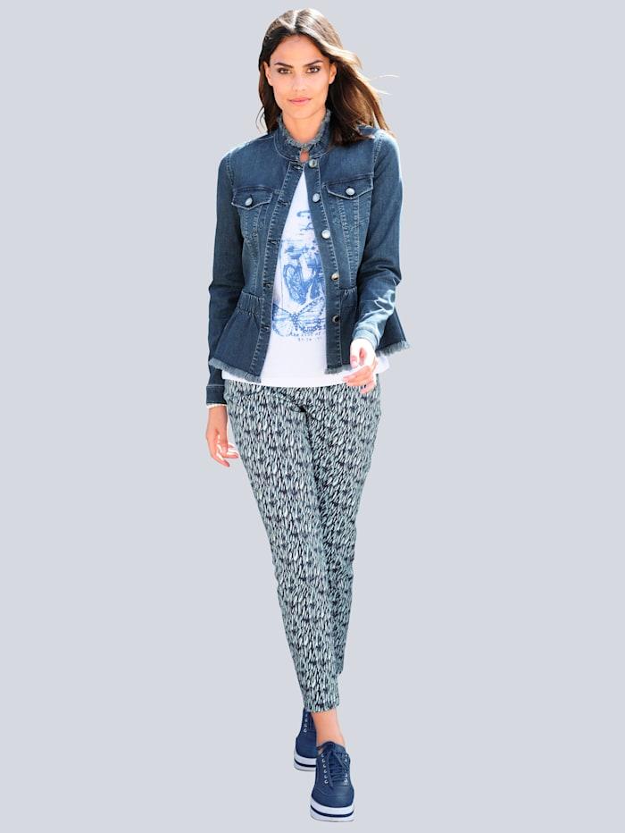 Nohavice s grafickým minimalistickým vzorom