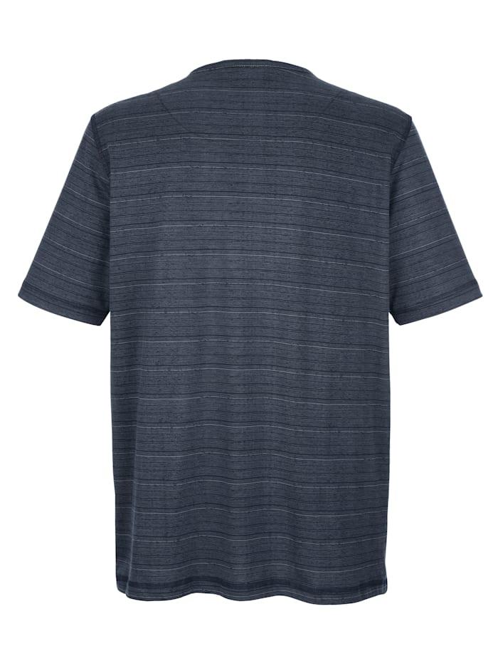 T-Shirt mit Chambray-Besätzen