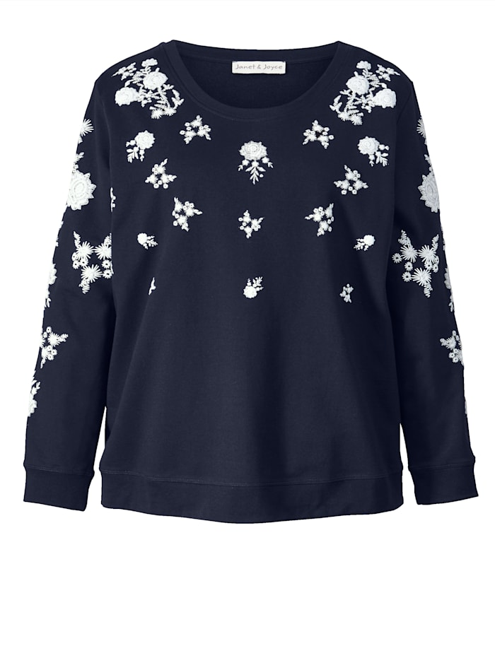 Sweatshirt mit Blütendruck
