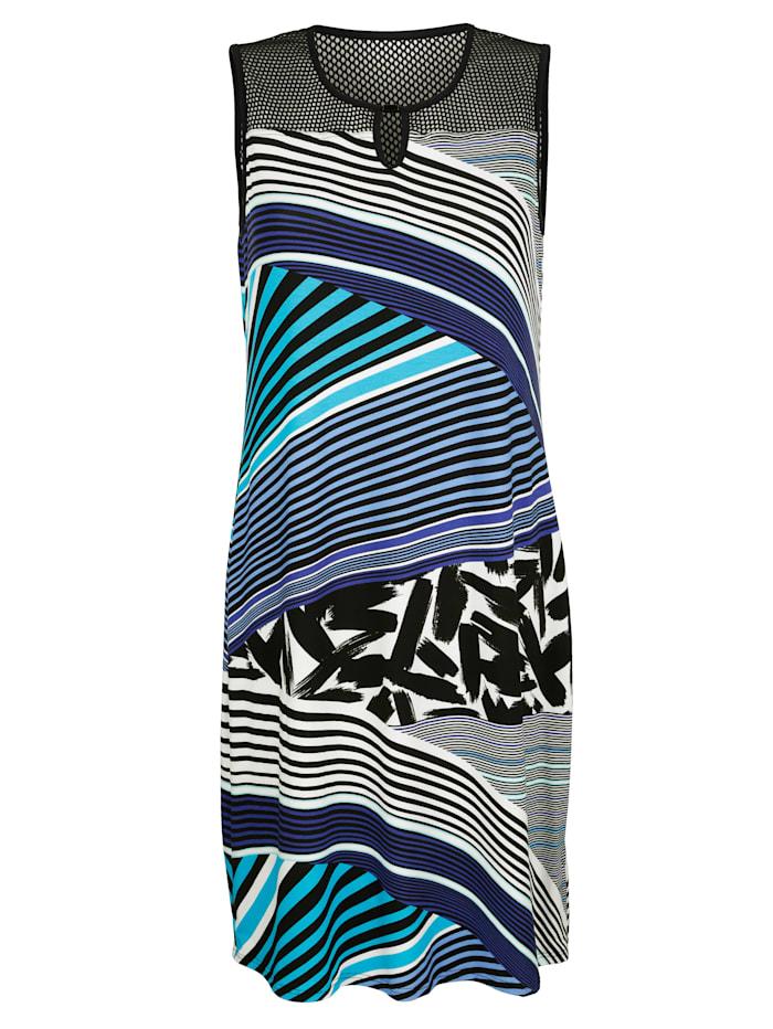 Sunflair Strandjurk met modieus streepdessin, Blauw/Wit/Zwart