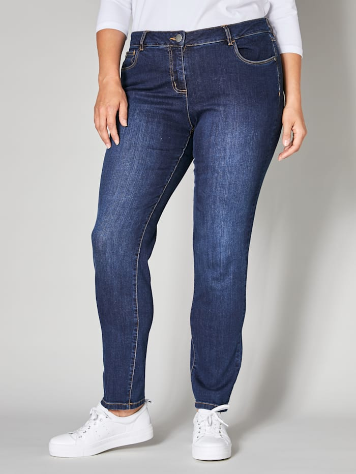 Janet & Joyce Slim Fit Jeans, Blau
