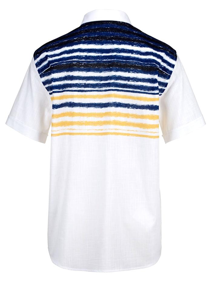 Košile s proužkovanou strukturou