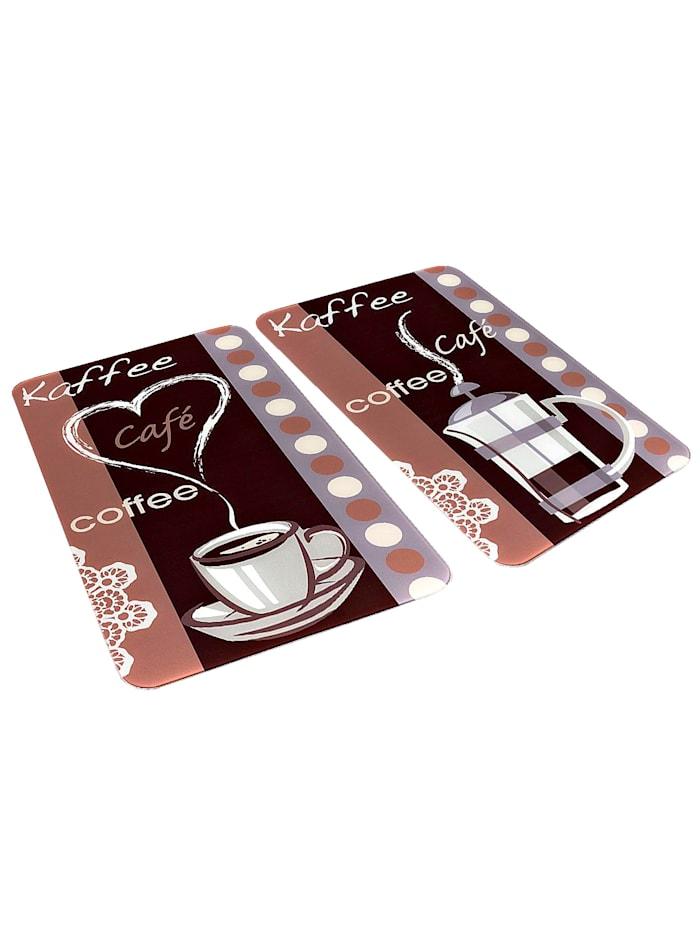 2 komfyrdekkeplater -Kaffeduft-