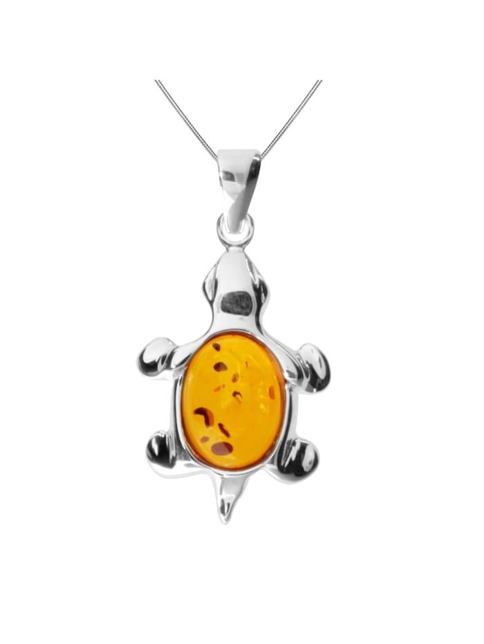 OSTSEE-SCHMUCK Kette mit Anhänger - Schildkröte - Silber 925/000 -, silber