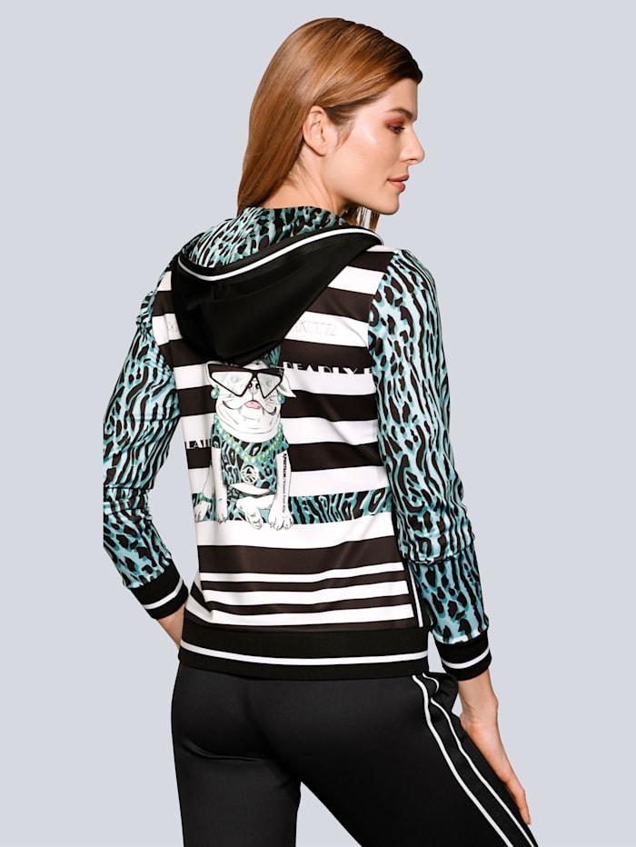 Sweatjacke mit tollem Print auf dem Rücken