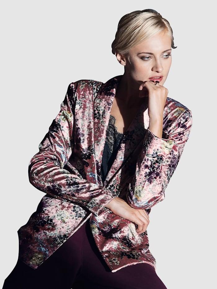 SIENNA Blazer aus bedrucktem Samt, Multicolor