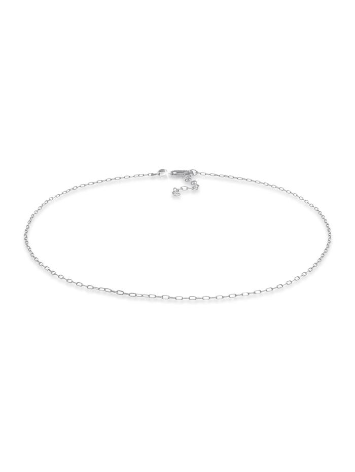 Elli Halskette Choker Gliederkette Oval Trend 925 Silber, Silber
