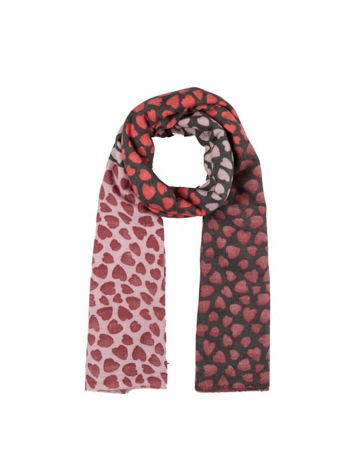 Codello Ultrasofter Herzchen-Schal aus recyceltem Polyester, dark red