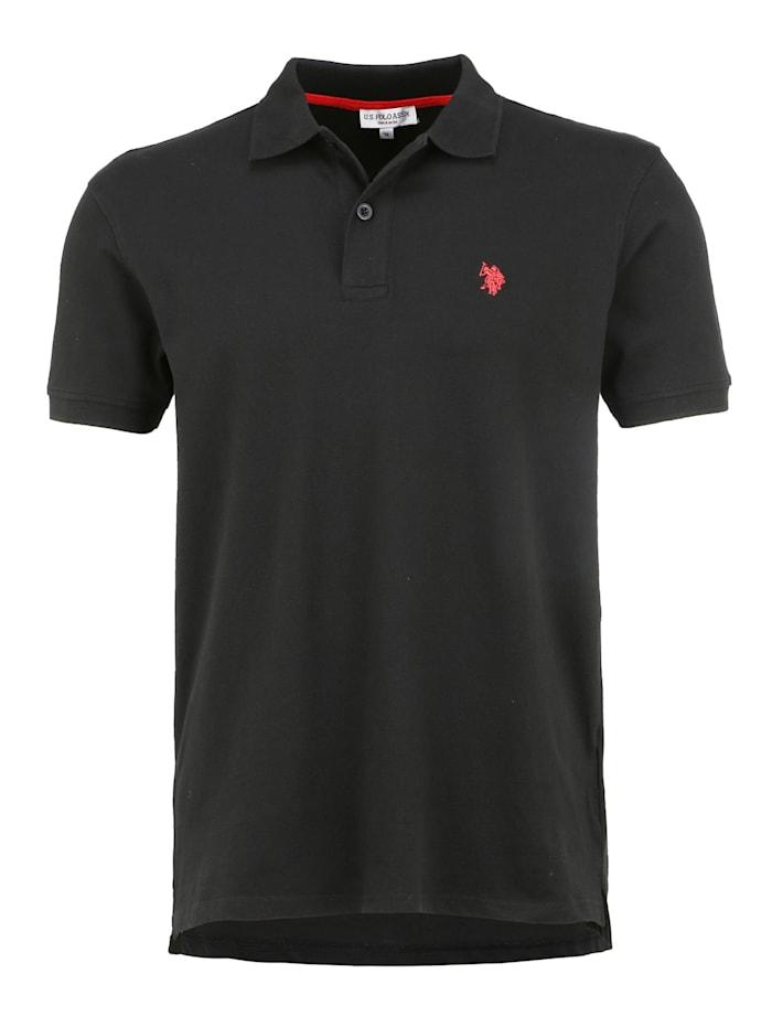 U.S. Polo Assn. Poloshirt Polo Stickereien, black