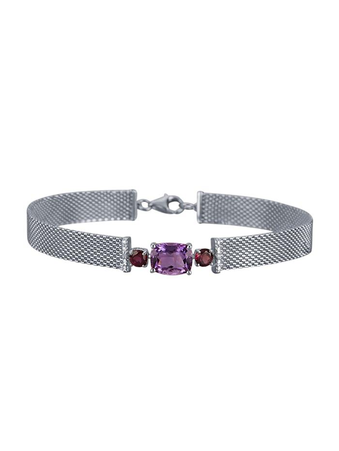 Armband van echt zilver, Paars