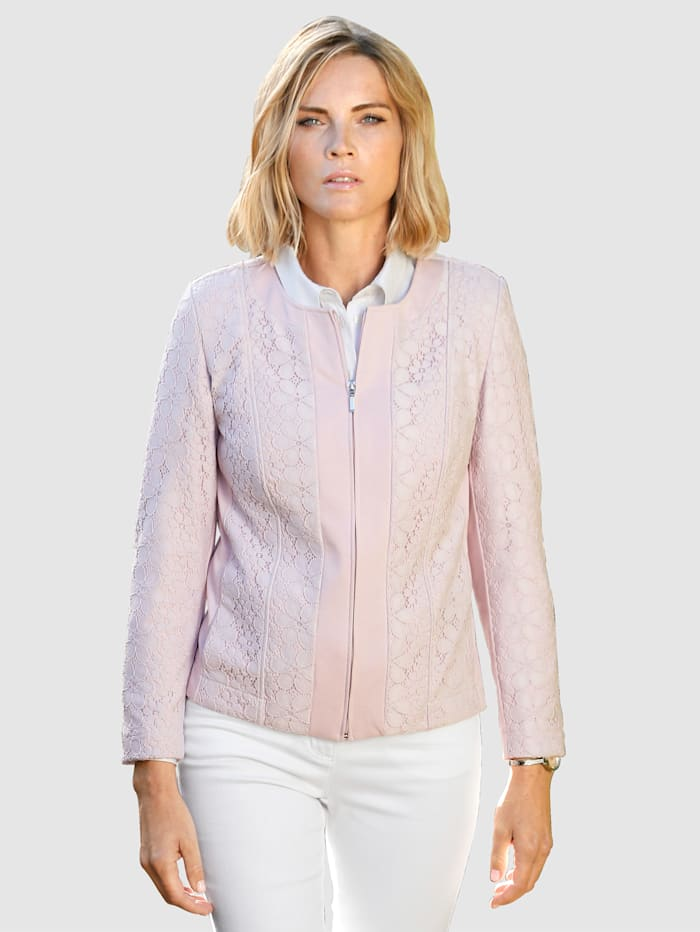 Paola Blazer met bloemenprint, Lavendel