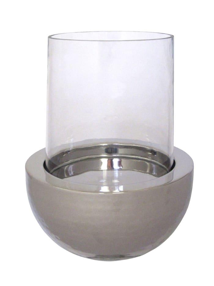 Creativ Deco Windlichtglas, silber
