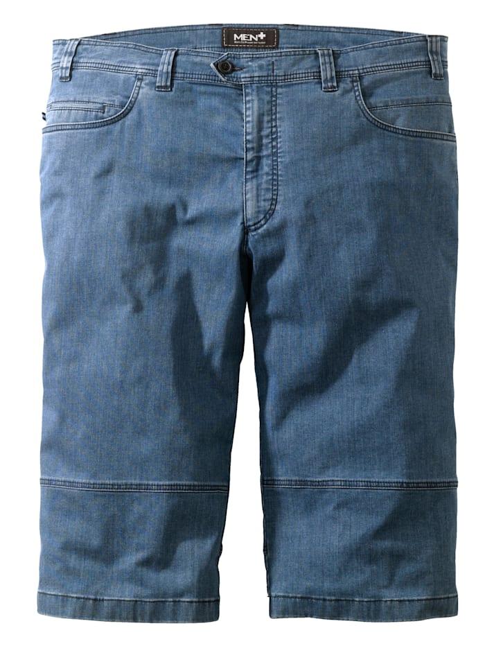 Men Plus Shorts i jeansmaterial, Blue stone