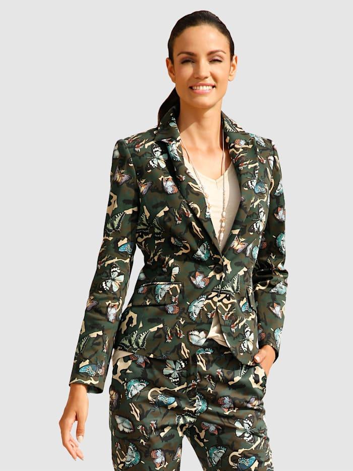 Blazer met modieuze camouflageprint