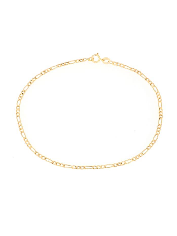 Grazielli Armband, figaropansarlänk i guld 14 k, Guldfärgad