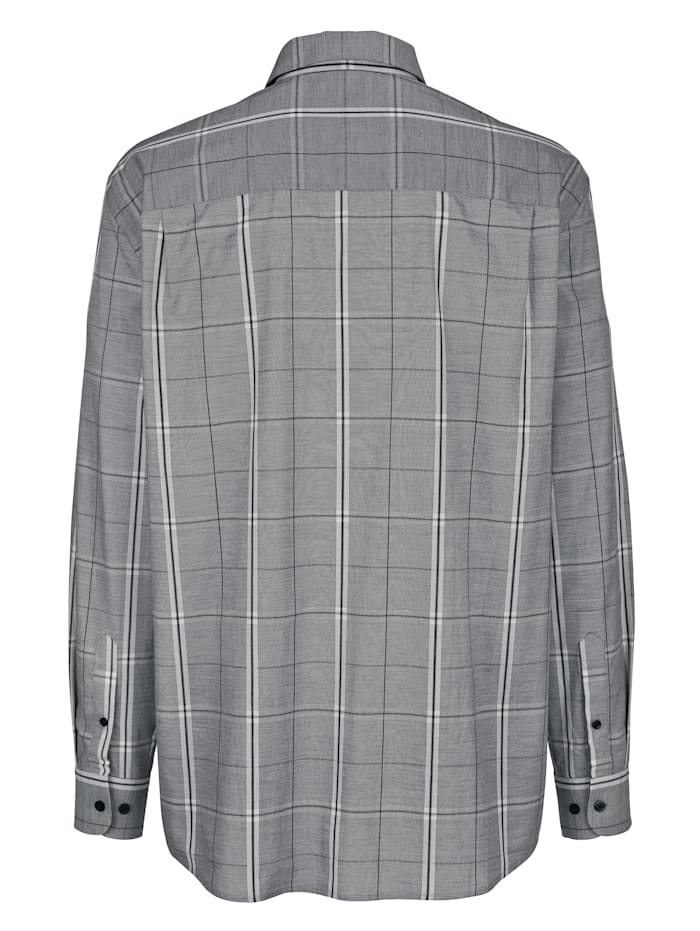 Hemd mit monochromem Karomuster